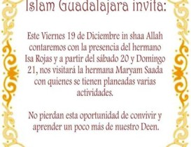 Islam Guadalajara Invita - Los dias 19,20 y 21