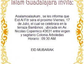 EID Mubarak - 17 de Julio
